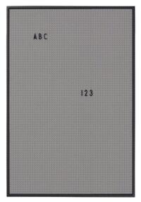Ardoise Légère A2 - L 42 x H 59 cm Lettres Design Gris Foncé