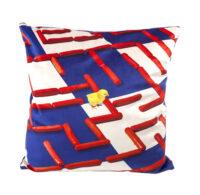 Cushion Toiletpaper - Labyrinth - 50 x 50 cm Multicolor | Blue Seletti Maurizio Cattelan | Pierpaolo Ferrari