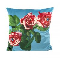 Toiletpaper Cushion - Roses - 50 x 50 cm Multicolor | Seletti Blue Maurizio Cattelan | Pierpaolo Ferrari