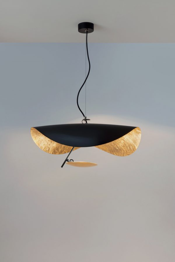 Lederam Manta S1 Κρεμαστό φωτιστικό / LED - Ø 60 cm Μαύρο | Χαλκός Catellani & Smith Enzo Catellani