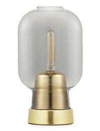 Lampe de table Amp Laiton | Gris fumé Normann Copenhagen Simon Legald
