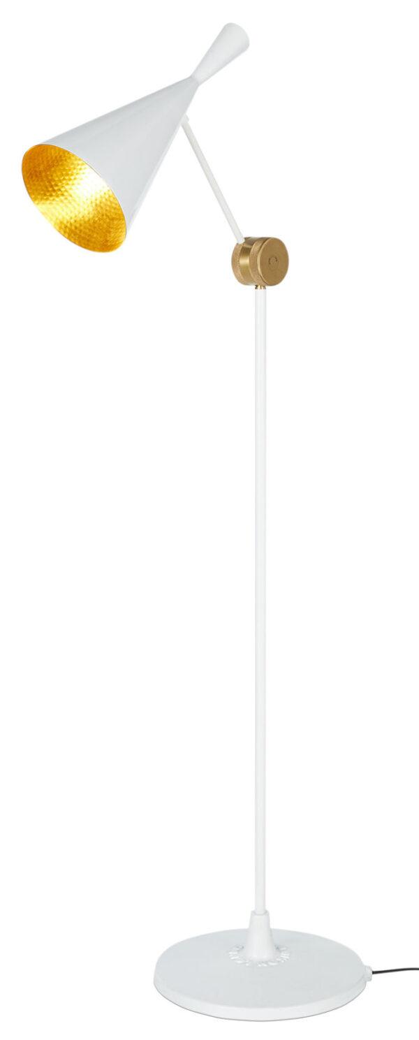 Floor Lamp Beat H 157 cm Bright white | Brass Tom Dixon Tom Dixon