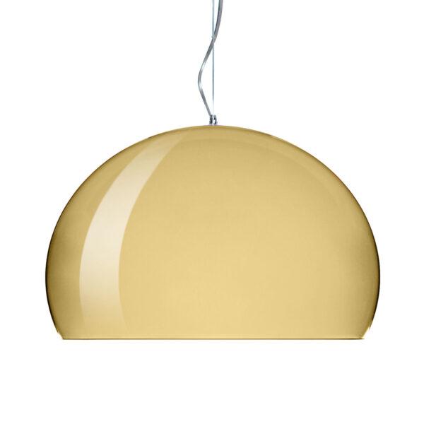 Λυχνία ανάρτησης FL / Y Small - Ø 38 cm Gold Kartell Ferruccio Laviani 1