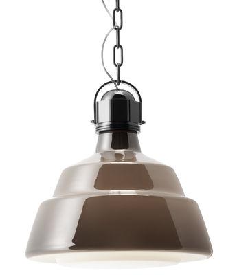 吊りランプグラス - Ø41センチブラウン フォスカリーニディーゼルクリエイティブチーム1を使ってChromeディーゼル