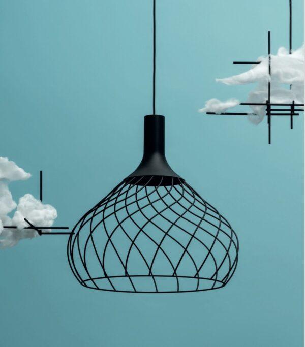 Hanging lamp Mongolfier_P2 Black Line Light Group LLG Design Center