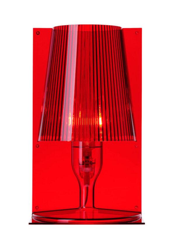 Nehmen Sie die rote Tischlampe Kartell Ferruccio Laviani 1