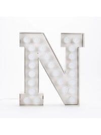 Vegaz Stehleuchte - Buchstabe N - H 60 cm Weiß Seletti Selab
