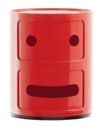 Smile Componibili Aufbewahrungsbox 2 / 2 Schubladen Rot Kartell Anna Castelli Ferrieri | Fabio Novembre 1