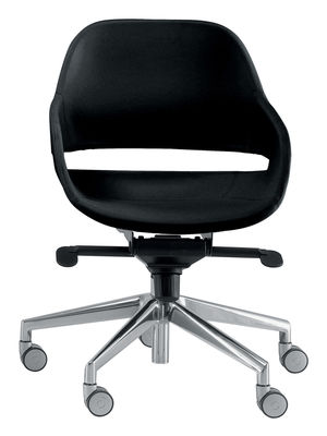Eva black office chair   Aluminium Zanotta Ora Ito 1