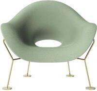 Pupa Balsam Green Armchair | Qeeboo Brass Andrea Branzi 1