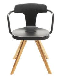 Πολυθρόνα T14 Πόδια / φυσικό ξύλο Μαύρο Tolix Patrick Norguet 1