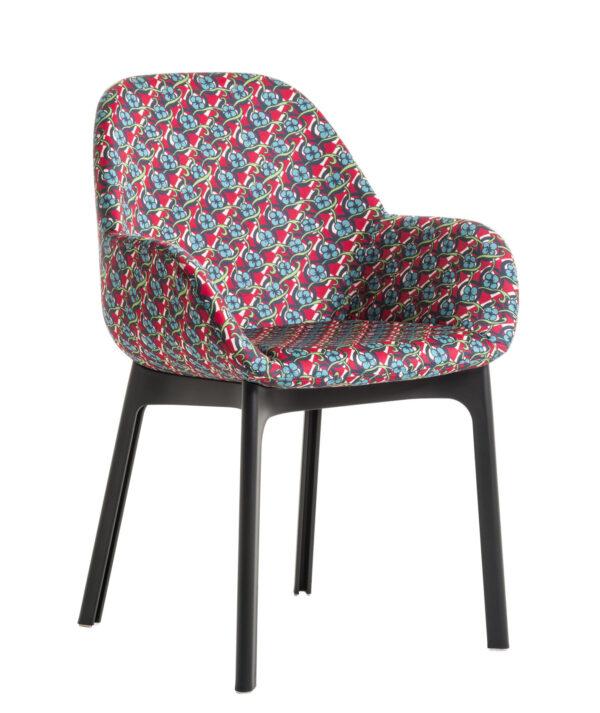 Clap La Double J upholstered armchair Black   Pic-Nic Kartell Patricia Urquiola 1