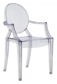 Louis Ghost積み重ね可能アームチェアライトブルー透明Kartell Philippe Starck 1