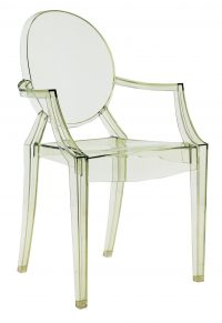 Louis Ghostスタッカブルアームチェア透明グリーンKartell Philippe Starck 1