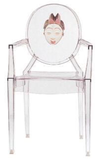 ルイゴースト積み重ね可能なアームチェア-中国の女性透明カルテルフィリップスタルク1