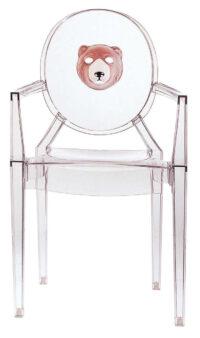 Louis Ghost積み重ね可能アームチェア-透明なクマKartell Philippe Starck 1