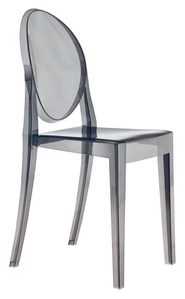 Victoria Ghost Fumé Kartell Philippe Starck 1 stapelbarer Stuhl