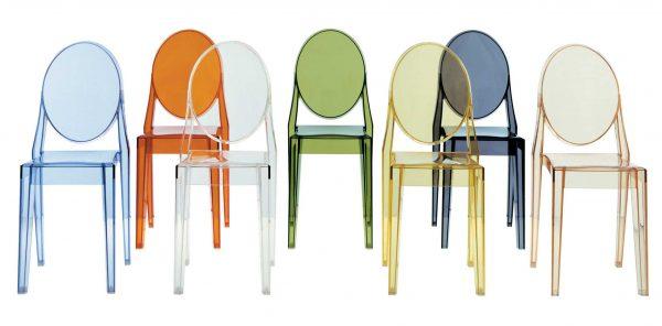 Cadeira empilhável Victoria Ghost Preto mate Kartell Philippe Starck 2