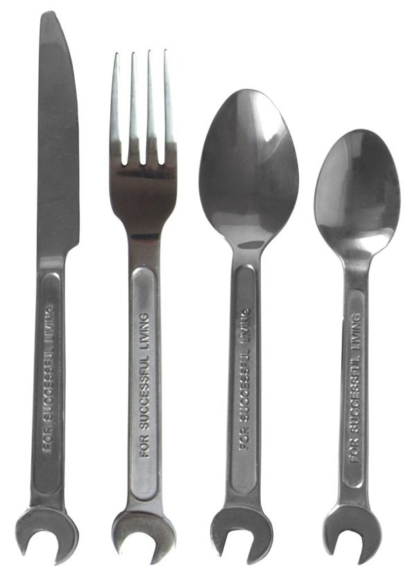 Set of cutlery DIY / 4 pieces - For a person living with Seletti Metal Diesel Diesel Creative Team 1