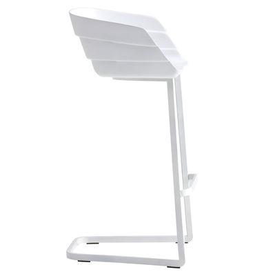 Υψηλή σκαμνί Rift Η 65 cm Λευκό Moroso Patricia Urquiola 1