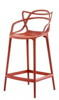 Sgabello alto Masters - H 65 cm Arancio ruggine Kartell Philippe Starck|Eugeni Quitllet 1
