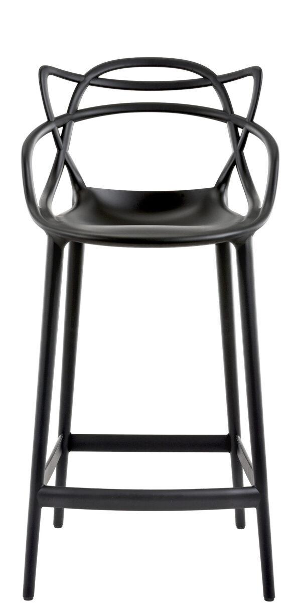 Masters hoher Hocker - H 65 cm Schwarz Kartell Philippe Starck   Eugeni Quitllet 1