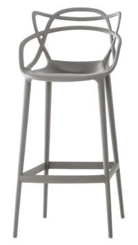 Sgabello alto Masters - H 75 cm Grigio Kartell Philippe Starck|Eugeni Quitllet 1