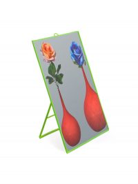 Toilettenpapierspiegel - Blumen - Groß H 40 cm Grün Seletti Maurizio Cattelan | Pierpaolo Ferrari