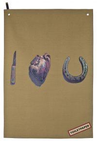 トイレットペーパーふきん - 私はあなたを愛して多色| SelettiベージュMaurizio Cattelan | Pierpaolo Ferrari