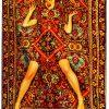 Toilettenpapier Teppich - Dame auf Teppich - 194 x 280 cm Mehrfarbig Seletti Maurizio Cattelan | Pierpaolo Ferrari