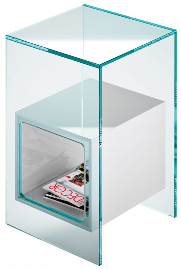 Mesa de Café Magique Branco   Transparent FIAM Studio Klass