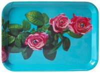 Toiletpaper tray - Roses - 43 x 32 cm Multicolored Seletti Maurizio Cattelan turquoise | Pierpaolo Ferrari