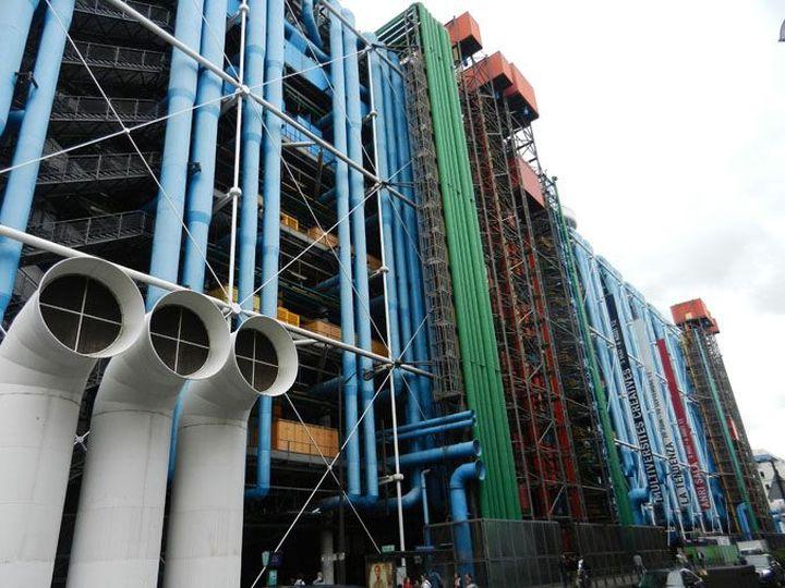 Richard Rogers Centre Pompidou, Renzo Piano-12