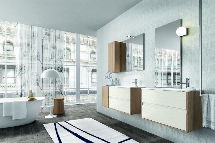 oak bathroom furniture cloe by Edone design