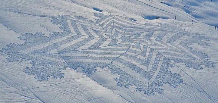 Snow-art-από-Simon-beck1
