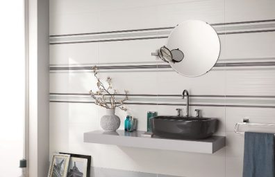 tiles for bathrooms Dress Up pearly white brick dec
