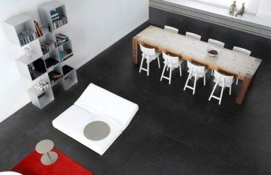 Porzellan Fliesenboden gefälschten Zement Smart-Stadt Dark750x500