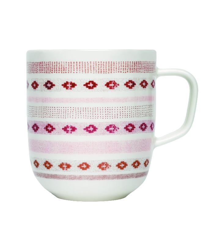 Sarjaton mug 0.36L Tikki red JPG