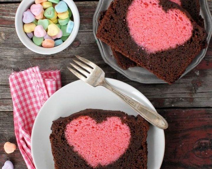 Sweet Valentine eine Pflaume mit einem Herzen innerhalb 01