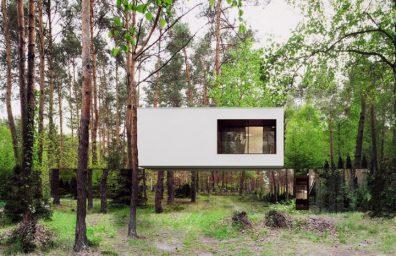 μεταρρύθμιση architekt Marcin Tomaszewski refelctive καθρέφτη Izabelin σπίτι 2 01
