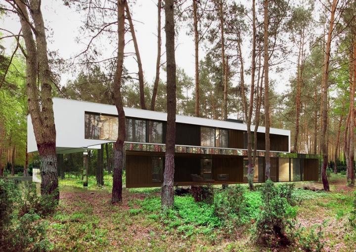Reforma architekt Marcin Tomaszewski espejo refelctive casa Izabelin 2 04