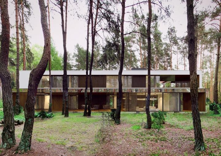 Reforma architekt Marcin Tomaszewski espejo refelctive casa Izabelin 2 08