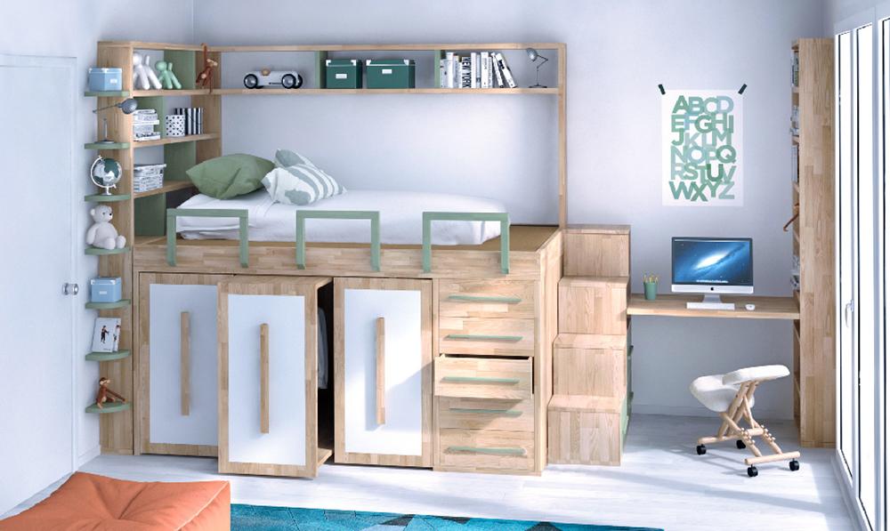 dormitorio ahorro de espacio