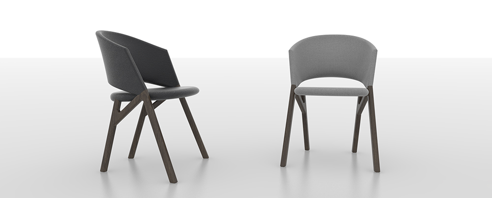 Byron, collection of chairs, Riccardo Giovanetti for P & C