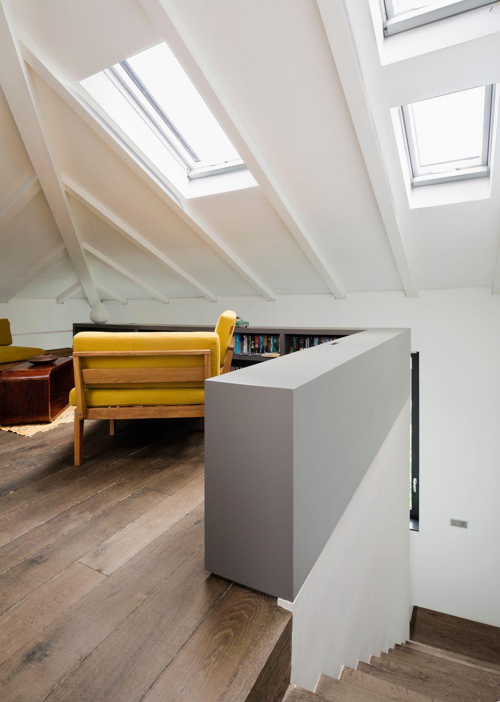 Westway Achitects vertikale Dachboden, Dachboden im Studio umgewandelt