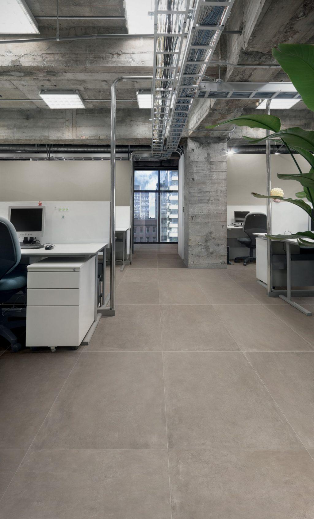 Ceramics concrete effect claymood taupe 60x120 cm
