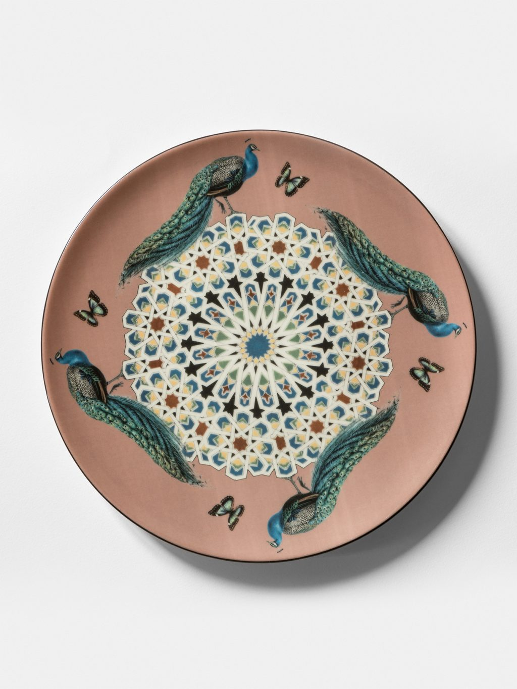 Constantinople, collection of dishes by Vito Nesta, peacocks