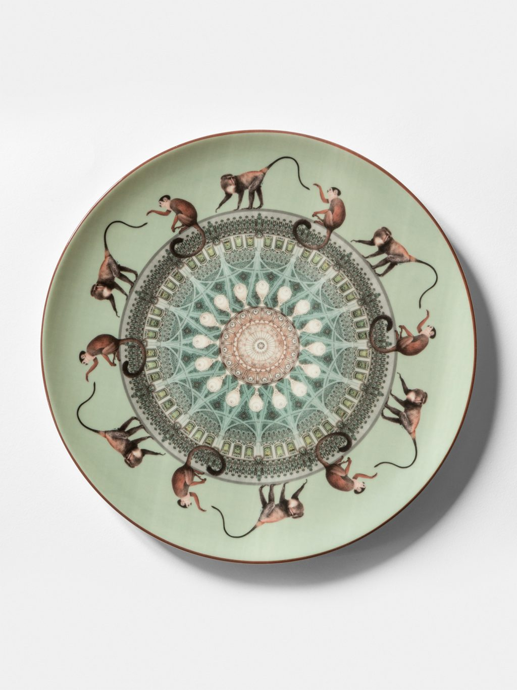 Constantinople, collection of dishes by Vito Nesta, monkeys