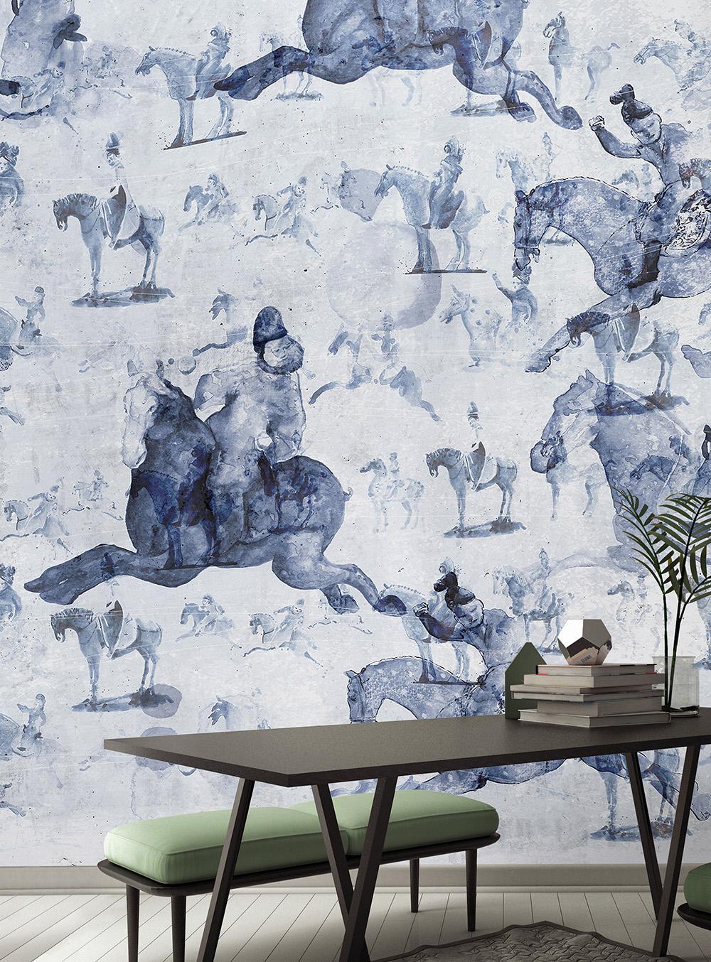Ταπετσαρία Wallpep Κινέζικα άλογα