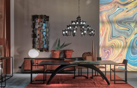 Pont table, design Aldo Cibic